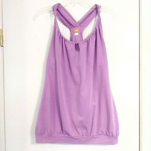 Lucy Tech Fit Lavender Knotted Yoga Tank Top